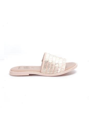 Shu Talk gold WONDERS Memory Gel Fringe Slip On Sandals 5AD82SH2449A74GS_1