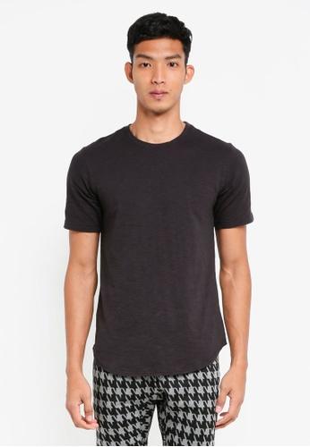 UniqTee 黑色 素色短袖T恤 D81BAAA4667D4CGS_1