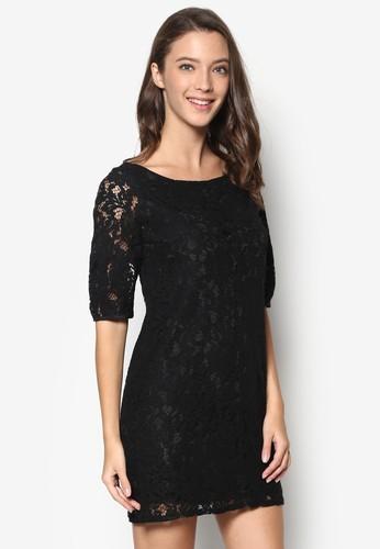 全蕾絲直筒esprit 品牌連身裙, 服飾, 洋裝