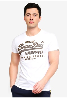 f3b4014fc53f26 Superdry white Vintage Logo Authentic Mid Weight Tee FDB38AA8648128GS 1