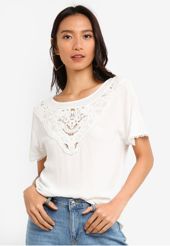 ONLY white Sabrina Top 519AFAAA772FE5GS_1