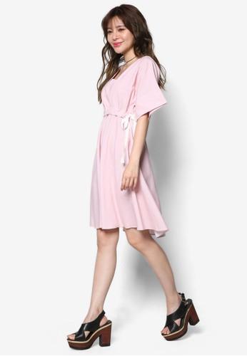 束腰側繫帶公主風洋裝esprit台北門市, 服飾, 洋裝