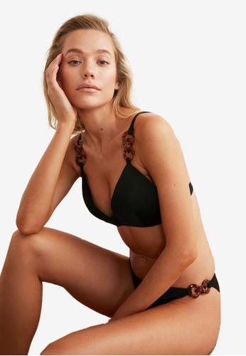 Trendyol black Tortoise Shell Chain Bikini Top 4070AUSFC5767DGS_1