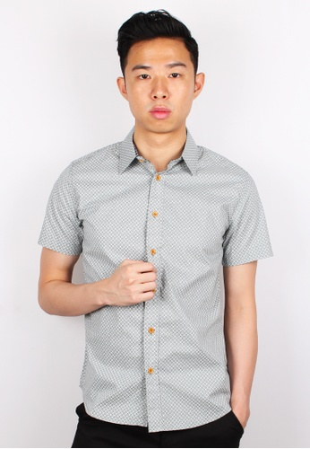Moley green Design Patterned Short Sleeve Shirt MO329AA0GMQZSG_1