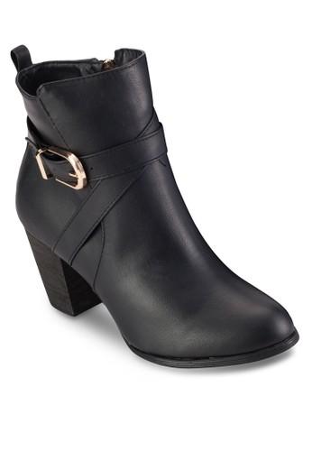 扣環帶京站 esprit高跟短靴, 女鞋, 鞋