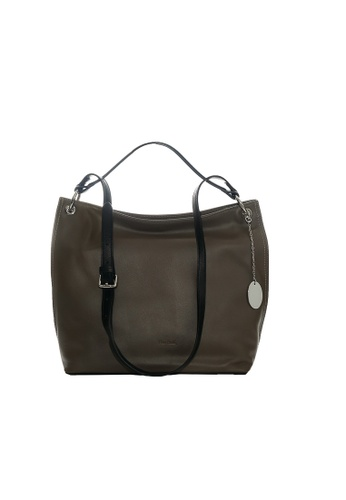 Pierre Cardin black and grey and brown Blaise Hobo Bag 28D12AC9583B1BGS_1