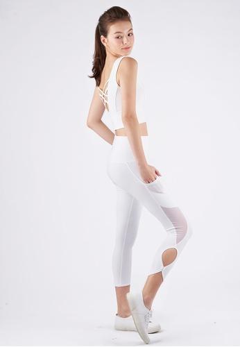 Yumi Active white Yumi Active Go Chic High Waist Capri (Pure White) 3F26BAA4B300DBGS_1