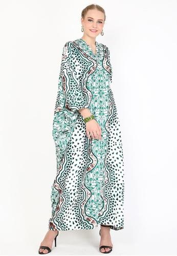 Kanzi by liza yahya green Kanzi Exclusive Long Sleeve Batik Kaftan 8A06BAA9B33A05GS_1