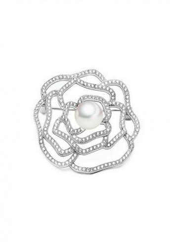 Vivere Rosse silver Vivere Rosse Pearl Amity Brooch VI014AC0S044MY_1