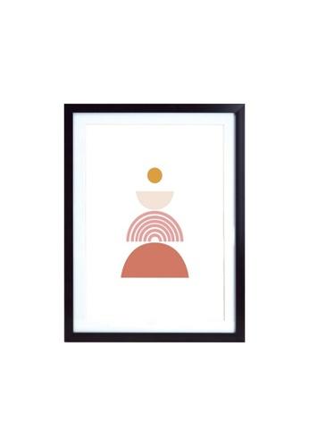 Klosh Black A3 Frame - Burnt Orange Abstract Art 691DDHL211D6C5GS_1