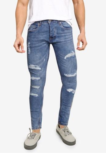 Brave Soul blue Denim Skinny Fit Jeans 06E11AA85BF7AFGS_1