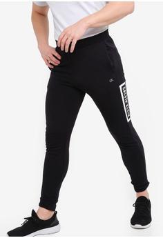 37368ed1e999 Calvin Klein black Box Logo Sweatpants - Calvin Klein Performance  C50CCAA7030738GS 1
