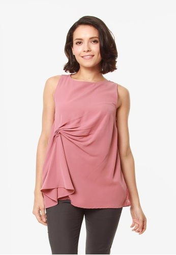Bove by Spring Maternity pink Elise Top Dusty Pink 7816BAAAE1FBCEGS_1