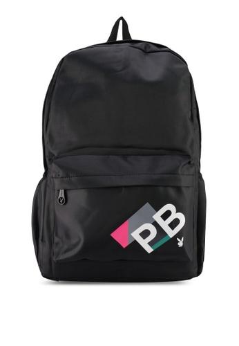 Playboy black PB Print BACKPACK 586C1AC70A1737GS_1