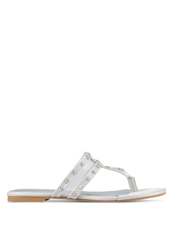 Something Borrowed silver Studded Thong Sandals 70552SH254FA32GS_1