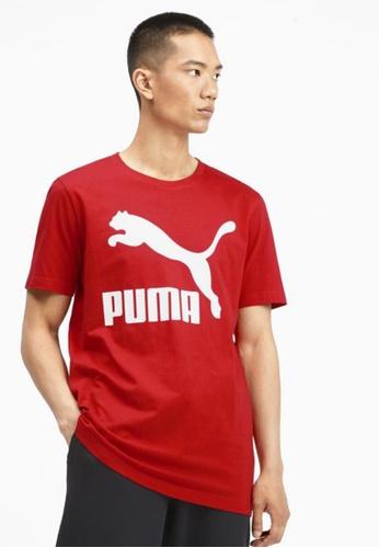 puma red Classics Logo Men's Tee A50E4AAEE8DA12GS_1