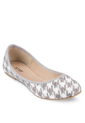 千鳥紋圓頭平底esprit 台北鞋, 女鞋, 鞋