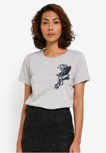 Vero Moda grey Mami Box T-Shirt VE975AA0T0E7MY_1