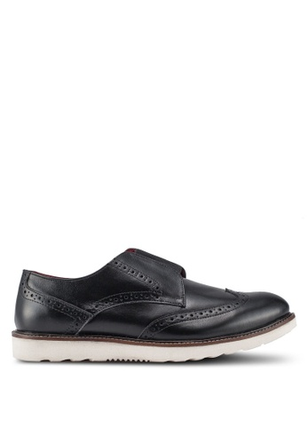 ACUTO black Leather Dress Shoes 16485SHFDD6C22GS_1