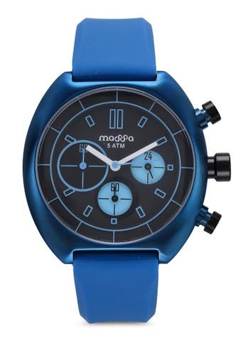 Massa Collections blue Vigo Blu Silicon Sporty Watch 31CACAC74FCF91GS_1