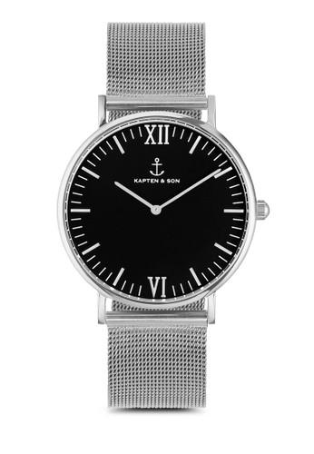 Campina Silver Black Mesh 36mm, esprit outlet 桃園錶類, 飾品配件