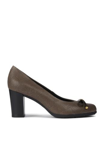 Geox brown Annya High Heel Shoe 83509SH565BC59GS_1