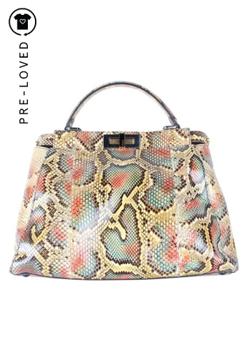 Fendi multi Pre-Loved fendi Python Medium Peekaboo Bag 2F9B9ACC511A23GS_1