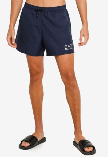 EA7 navy Sea World Bw Core Swim Shorts C0355US9B5535DGS_1