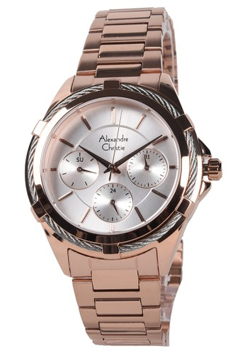 Alexandre Christie gold Alexandre Christie - Jam Tangan Wanita - Rosegold - Stainless Steel Bracelet - 2841BFBRGRG 43937AC920BB34GS_1