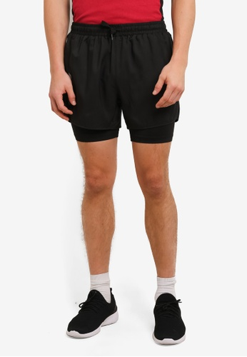 2GO black GO Dry Sports Shorts 2G729AA0S5WAMY_1