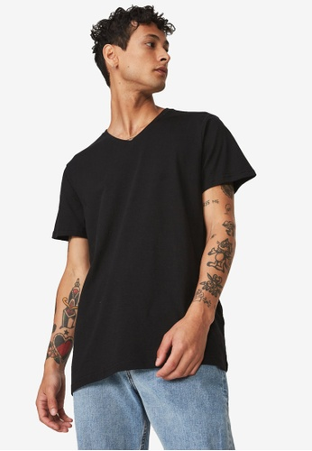 Cotton On black The Other Vee T-Shirt CO372AA54ZWNMY_1