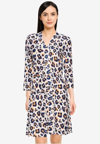 Noisy May grey Sally 3/4 Short Dress E2CA9AAF38B0D8GS_1