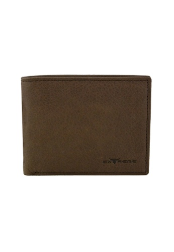 EXTREME brown Extreme Genuine Leather Wallet RFID Protection Large Capacity Mid Flap Walnut Brown 3D7C9AC4CE0ACFGS_1