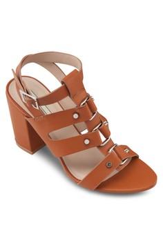 Stud Heel Sandals