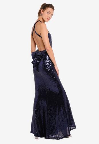 fdd5f8e8242 Buy Goddiva Bow Detail Sequin Maxi Dress Online on ZALORA Singapore
