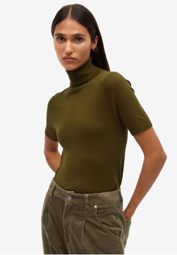 Mango green Turtle Neck Sweater A58B1AABE85E6EGS_1