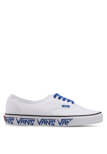VANS white and blue Authentic Sketch Sidewall Sneakers VA142SH0SWU6MY_1