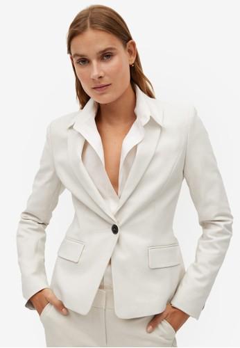 Mango white Structured Suit Blazer 8F96DAA663F489GS_1