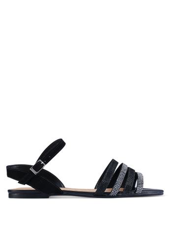 Anacapri black Tela Tory Sandals A685CSH45BD283GS_1