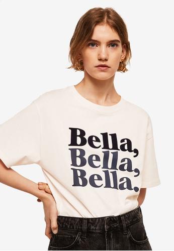Mango white Bella T-Shirt C49DDAA59A2C39GS_1