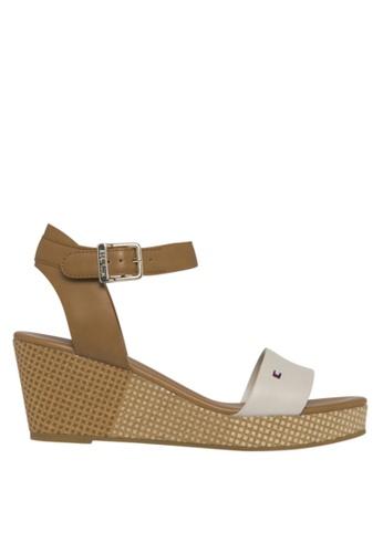 b1c3d1170 Shop Tommy Hilfiger Feminine Mid Wedge S Sandals Online on ZALORA  Philippines