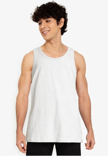 Only & Sons grey Piece Relaxed Tank Top F2AC7AA2B8F869GS_1