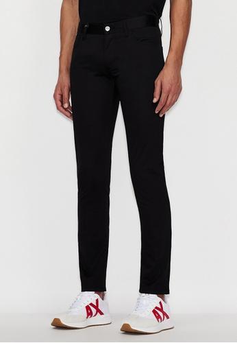 Armani Exchange black AX Armani Exchange Men Narrow Leg Pants (Black) - Spring & Summer 2021 Collection B1CA7AA98BC2E4GS_1