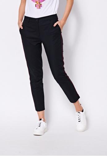 Sisley black Slim Fit Pants 806CAAAFE42D1DGS_1
