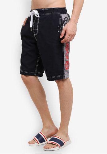 Superdry navy Superdry Panel Boardshorts SU137US0RIR9MY_1