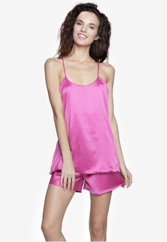 moondaze pink Bianca 100% Charmeuse Satin Sleepwear Set MO008AA80PHZPH 1 b6380d7bf