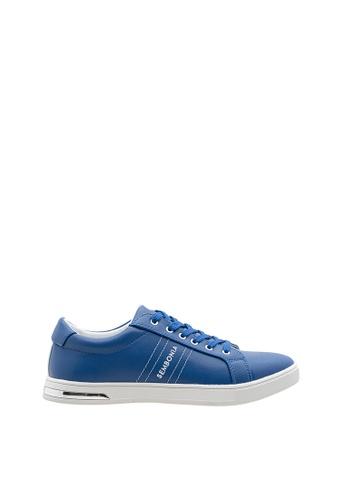 SEMBONIA blue SEMBONIA Men Microfiber Sneaker (Blue) 098B8SH55D4A1AGS_1