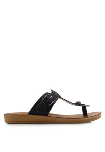 NOVENI black Low Profile Sandals 7BBE0SH4321F76GS_1