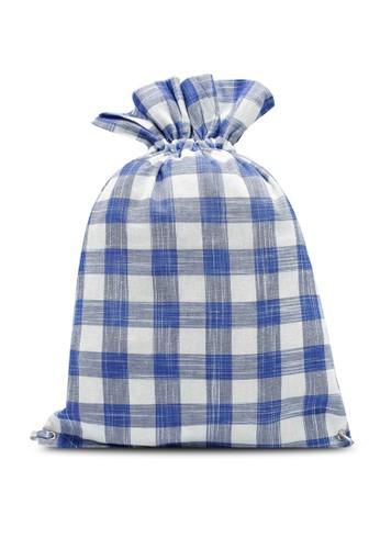 Compania Fantastica blue Blue Plaid Fabric Backpack 9C3C3ACCD0A203GS_1