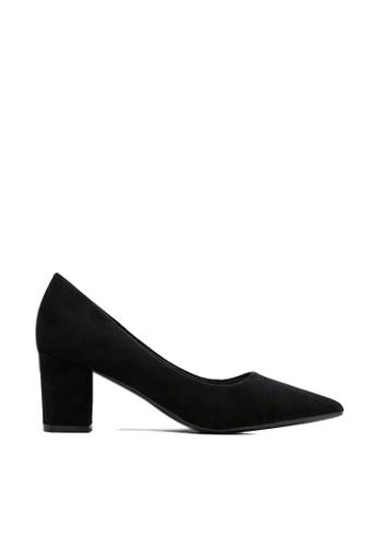 Twenty Eight Shoes 黑色 6.5CM尖頭絨面高踭鞋 1308-1 813CDSH5836DE7GS_1